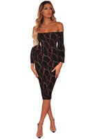 Wholesale floral womens clothing for sale - Group buy Fashion Womens Summer Off Shoulder Flora Chain Printed Dresses Holiday Sexy Fashion Casual Skirt Party Clothing