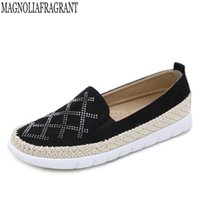 женская обувь оптовых-new European  Patchwork Espadrilles Shoes Woman Genuine Leather Creepers Flats Ladies Loafers White Leather  n27