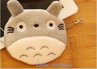 toptan sikke çantası toptan satış-Süper Kawaii Komşum Totoro Peluş Coin Çanta Cüzdan Kılıf TORBA; Kolye Çanta Kese Güzellik Tutucu BAG Çanta