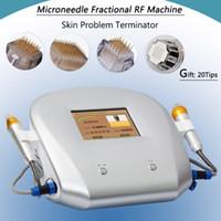 massage rollen nadeln großhandel-Fractional RF Facelifting Anti-Falten-Massage-Maschine Micro Needling Mesotherapie Narben Akne Micro Nadel Roller-System