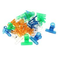 Wholesale plastic bookmark clips for sale - Group buy 24 Document Color Assorted Plastic File Ticket Binder Clip
