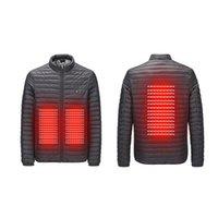 vêtements intelligents achat en gros de-Veste de chauffage pour hommes en plein air hiver chauffage intelligent coton USB avant arrière doudoune coton vêtements chauds