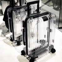 чемодан для хранения оптовых-Latest fashion The New Transparent suitcase,20/22/24/26inch size PC Rolling Luggage bag,Universal wheel,Storage Box,