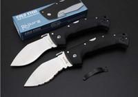 Wholesale cold steel combat resale online - COLD STEEL dog knife dogknife D2 Folding Pocket Camping Survival Knife Xmas gift knives for man a1387
