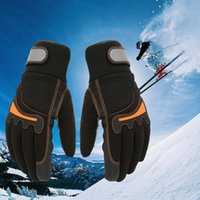 luvas climáticas venda por atacado-Isolados snowboard inverno luvas homens mulheres tempo frio luvas de esqui adulto quente à prova de vento impermeável 30O9 febre
