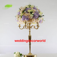 ingrosso arrangiamenti floreali per tavoli matrimoniali-Matrimonio fiore stand centrotavola in metallo placcatura in oro matrimoni geometrica strada piombo per decor319 partito
