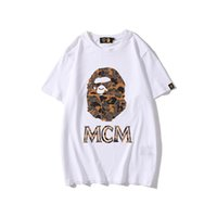 Wholesale New Spring Summer Men s Cartoon Print Camo Sports T shirts Lover Casual Short Sleeve Hip Hop Loose T shirts
