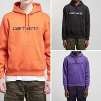 ingrosso hoodie di kanye west-Hiphop Mens Carrello Lettere Felpe con cappuccio Rapper Kanye West Felpe con ricamo ricamo con cappuccio Top