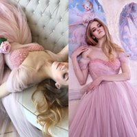 Wholesale blush ruched prom dress for sale - Group buy Vintage s Blush Pink Ball Gown Prom Dresses Elegant Off Shoulder Tea Length Evening Gowns Short Homecoming Dress Beaded