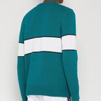 moda jacquard suéter venda por atacado-19SS Logotipo Da Letra Do Alfabeto Europeu Invertido Jacquard Sweater Quente Moda de Alta Qualidade Homens E Mulheres Designer Woolly HFYYMY008