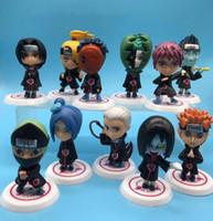 boneca japonesa venda por atacado-2019 New Hot 11 pçs / set Crianças Bonecas Anime Japonês Naruto Akatsuki 2.6 '' Figura Brinquedos Modelo Figura de Ação Presentes de Aniversário L