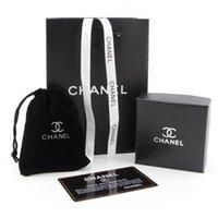 luxus-geschenk-boxen designs großhandel-Luxus Halsketten Beutel Schmuck Mode Design Ohrring Box Marke Schwarz Verpackung Schmuck Geburtstagsgeschenke Ornament Boxen