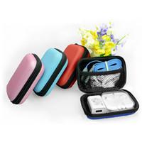 sd kart usb hediye toptan satış-Sikke çanta Taşınabilir Mini Cüzdan Seyahat Elektronik Sd Kart Usb Kablosu Kulaklık Telefon Şarj Saklama Kutusu Hediye Kılıfı