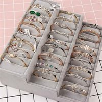 gemischter goldcharme großhandel-NEUE Bangle Qualität Gold Überzogene Mischung Verschiedene Stile Großhandel Kristall strass Rose Gold Silber Schmuck Korean Fashion Charm armband DHL
