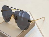eyewear frames schmetterling stil großhandel-Luxus-New Fashion Trend Brand Designer Sonnenbrillen Butterfly Frame Frameless Sonnenbrillen Großzügige Avantgarde-Art Eyewear mit Fall