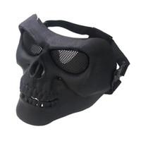 gesichtsmaske lüfter groihandel-M02 Half Face Mask Für Airsoft Games Tactical Gesichtsschutz Feldmaske Army Fan Equipment Classic Masken