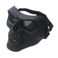 mascarilla ventilador al por mayor-M02 Media máscara facial para juegos de Airsoft Protección facial táctica Máscara de campo Equipo de aficionados al ejército Máscaras clásicas