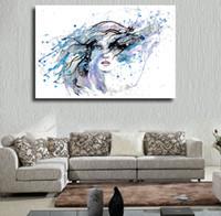 modern boyalı portreler toptan satış-1 Adet Modern Derin Deniz Portre Yağlıboya Akrilik Resim Tuval Duvar Sanatı Dekoratif Resimler Ev Baskılı