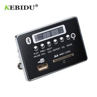 пульты дистанционного управления оптовых-Kebidu MP3 декодер доска Hands-free USB FM Aux радио MP3-плеер встроенный автомобиль USB Bluetooth модуль дистанционного управления для автомобиля