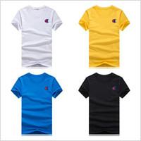 vêtements d'été pour les femmes achat en gros de-T-shirt pour hommes de marque T-shirt sur la poitrine Logo de luxe de vêtements imprimés T-shirt de marque champion pour hommes et femmes pour été décontracté