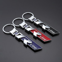 Wholesale keychain car volkswagen for sale - Group buy 2 Pieces D Mental Car Logo Keyring Keychain Auto Key Ring Key Chain Holder Keyfob For Volkswagen Golf Rline Car Styling Accessories