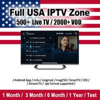 Wholesale dvb usb tv receiver online - 690 USA Live tv iptv subscription for android abonnement iptv months abbonamento iptv Support M3U Mag Box Smart TV