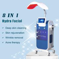 hidro microdermabrasión agua al por mayor-2019 HydraFacial piel microdermoabrasión agua rejuvenecimiento arma limpieza profunda hidra de máquina de oxígeno facial mesoterapia elevación hidráulica de la piel RF