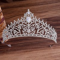 Best selling high-end inlaid rhinestone zircon bride crown wedding dress headdress princess birthday headband party dinner dress jewelry fre