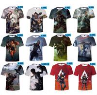 videojuegos 3d al por mayor-Apex Legends Men T-shirt Verano Camisetas 3D Imprimir juegos de video de manga corta O Cuello Tees Chándal Gimnasio Tops XXS-4XL nuevo A22602