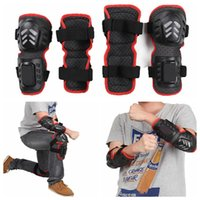 Wholesale cycling kits resale online - 4pcs Knee Protector Anti Kit Elbow Knee Protector Pads Guard Special For Cycling Motorcycle Shock High Quality Durable DDA300