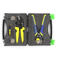 Wholesale terminal wires resale online - KKmoon Professional Wire Crimpers Terminals Pliers Kit Cable Cutter Engineering Ratcheting Terminal Crimping Plier Wire Stripper Y200321