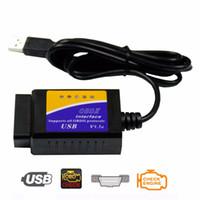 usb elm327 obd2 obdii al por mayor-Nuevo ELM327 USB OBD2 Auto herramienta de diagnóstico del coche ELM 327 V1.5 Interfaz USB OBDII CAN-BUS escáner venta caliente ~