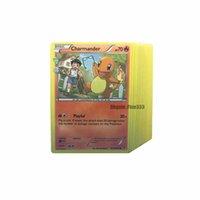 modelos de tarjetas gratis al por mayor-Pokemons Collecting Old Cards Tarjetas de juego de mesa Inglés Ver.25 / 50/75 / 100PCS Tarjetas de diferentes modelos Tarjeta Pikachu Envío gratis