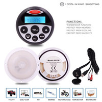 Wholesale spa cars for sale - Group buy Marine Radio Bluetooth Stereo Receiver MP3 Player Waterproof Marine Speaker USB Audio Cable For ATV UTV RV SPA Boat Yacht car