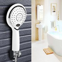 Wholesale automatic wall lights for sale - Group buy Automatic LED Light Shower Head Color LED Handheld Bathroom Digital Temperature Display Romantic Lights Portable Water Saving Y200109