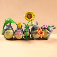 Wholesale neighbor totoro toy for sale - Group buy My Neighbor Totoro Action Figures Kids Toys Lovely Anime Cartoon Mini Dolls Toys Plants Micro landscape decoration Children Gift Toy