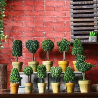 mini-bonsai-dekoration großhandel-Retro-Simulation Blume Bonsai Hause wilde kreative Ornamente verschiedenen Stilen Mini gefälschte vergossene Desktop-Dekoration EEA409