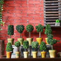 ingrosso mini desktop di casa-Simulazione retrò fiore bonsai casa selvaggia ornamenti creativi vari stili mini finta decorazione desktop in vaso EEA409