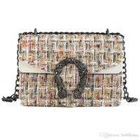yünlü poşetler toptan satış-Retro vahşi Messenger omuz çantası yün moda zincir küçük kare çanta kişilik Bacchus çantası ücretsiz kargo