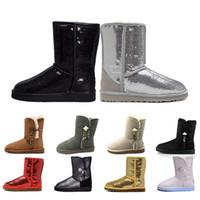 ingrosso i migliori scarponi da caccia-nuove donne di arrivo Boots glitter paillettes WGG Designer Womens scintille in Australia classica Winter Snow Boot Bling pulsante dimensione 36-41