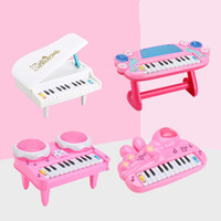 instruments à clavier achat en gros de-Instruments de musique Jouets Claviers Piano Orgue électronique 3D Éclairage Mini Enfants Éducation préscolaire Couleurs Mélanger 14 5yh F1