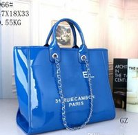 Wholesale designer jelly tote resale online - 2019 fashion designer bags Leather beach large women totes shopping totes bag PVC clear Jelly shoulder bags purse