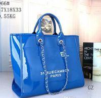 ingrosso chiaro sacchetto di spalla del pvc-2019 progettista borse da spiaggia in pelle di moda grandi donne totes borse di shopping bag in PVC trasparente gelatina borse a tracolla borsa