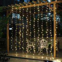 mini bahçe aydınlatması toptan satış-Düğün Dekorasyon ışık 3 M x 3 M 306 leds led perde dize peri işık 306 ampul Noel Noel Düğün ev bahçe parti dekorasyon