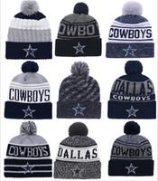 4568305d2f Venta al por mayor nuevo Pom Poms hombres mujeres sombreros de invierno  deportes Dallas Cowboys gorros moda tejer sombrero marca gruesa mujer  caliente Caps