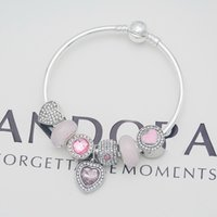 pulseras de big bangles al por mayor-Venta al por mayor Pulsera DIY Romántico púrpura agujero grande perlas pulseras suaves encanto de las mujeres del brazalete regalos de la muchacha