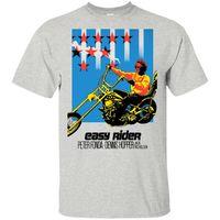 Wholesale posters women resale online - 2019 Peter Fonda Easy Rider Poster Short Sle Tshirt Black Navy Men Women Youth Classic Unique Tee Shirt