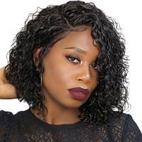 brezilya dalgalı peruk toptan satış-Siyah Kadın Için dalgalı Bob Peruk 13X4 Kısa Dantel Ön İnsan Saç Peruk Doğal Dalga Brezilyalı Peruk Bob Dolago