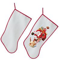ingrosso calzini di natale diy-Decorazioni natalizie per sublimazione Calze natalizie Calze personalizzate vuote fai-da-te personalizzate Forniture natalizie Materiale per trasferimento a caldo DHL HH9-2347