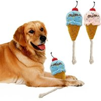 Wholesale ice cream dogs for sale - Group buy Pet Plush Ice Cream Chew Toys Lovely Dog Squeaker Squeaky Toy Dog Training Obedience